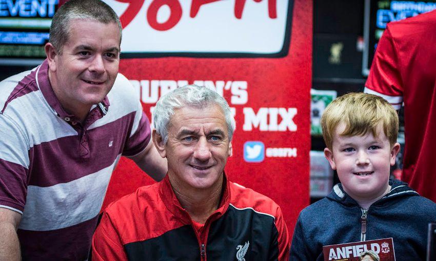Photos Rush Helps Dublin Store Mark First Birthday Liverpool Fc