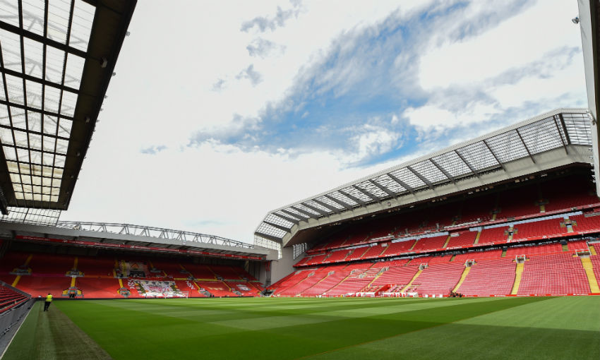 Anfield, home of Liverpool FC
