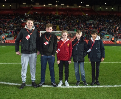 Teen Members watch U23s at Anfield in style