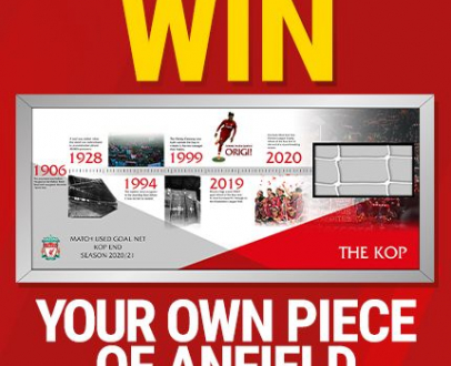 Win your own piece of Anfield History