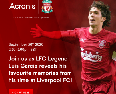 Join exclusive online event with Luis Garcia hosted by Acronis