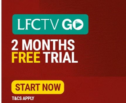 LFCTV GO – 2 months free, exclusive to LFC Official Members and Season Ticket Holders