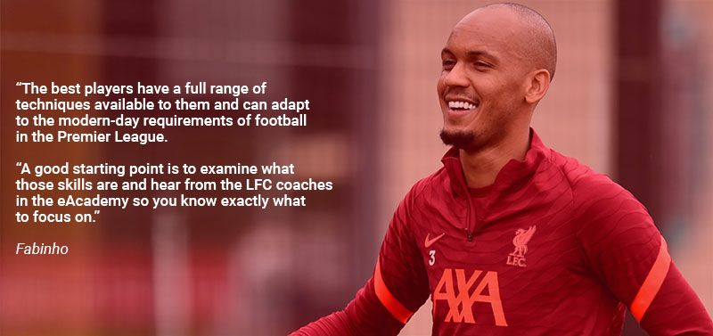 Quote from Fabinho about LFC eAcademy