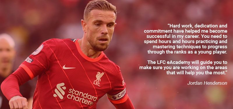 Quote from Jordan Henderson about LFC eAcademy