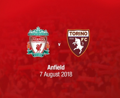 Reds to play Torino FC at Anfield