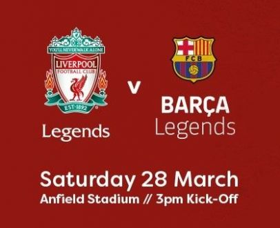 WIN two tickets for LFC v Barca Legends!