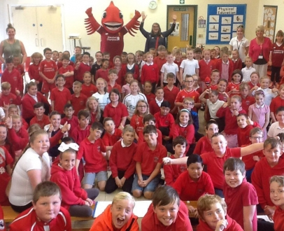 Mighty Red to School!