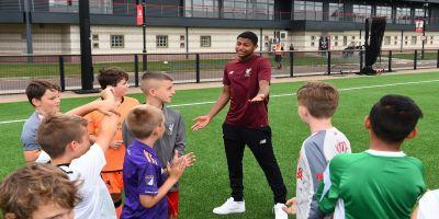 Brewster visits Academy Soccer School