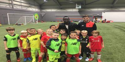 Mane pays surprise visit to Soccer School