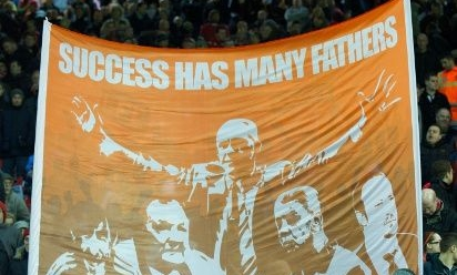 Tony Barrett's Kop 10 banners - Liverpool FC