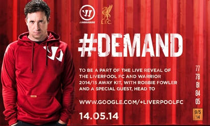 0288bdab9 Join Fowler for away kit launch Hangout. Liverpool FC and Warrior ...