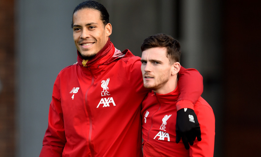 Liverpool in pre-Leicester training, December 24