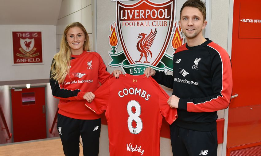 reputable site e62d8 1389e England international Coombs joins Liverpool Ladies ...
