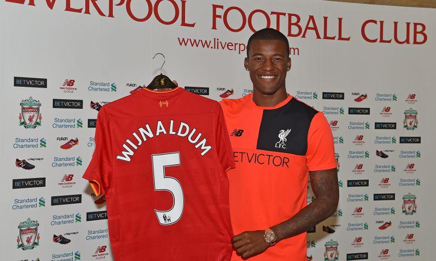 outlet store a777c 0b43b Wijnaldum takes No.5 shirt after Reds move - Liverpool FC