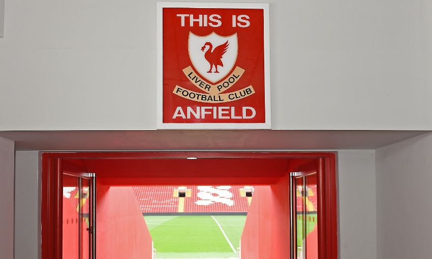 Photos This Is Anfield Sign Restored To Main Stand Tunnel