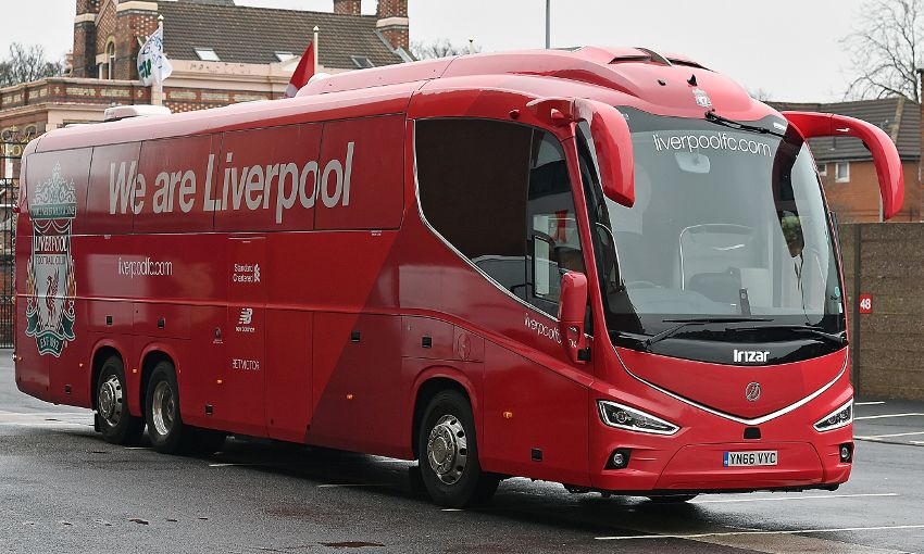 Photos New LFC Coach Makes First Trip To Anfield