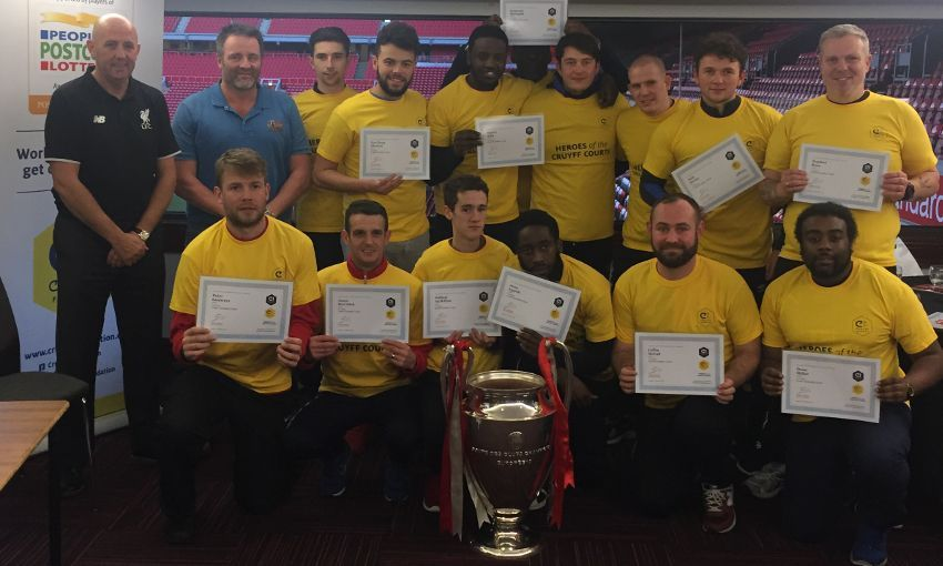 Gary McAllister guests at Cruyff Foundation course