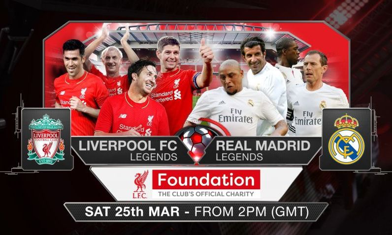 How to watch LFC Legends v Real Madrid for free