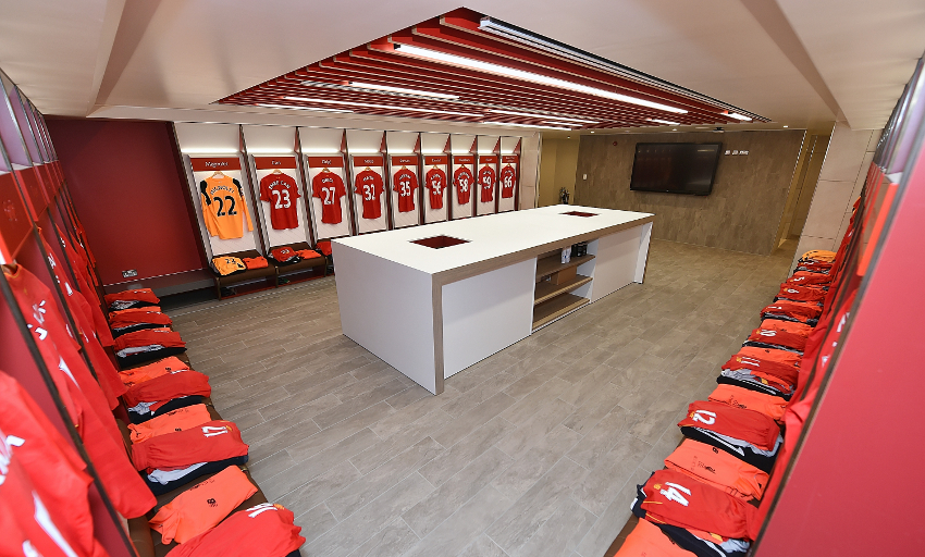 Photos And Video Reds 39 New Anfield Dressing Room Unveiled