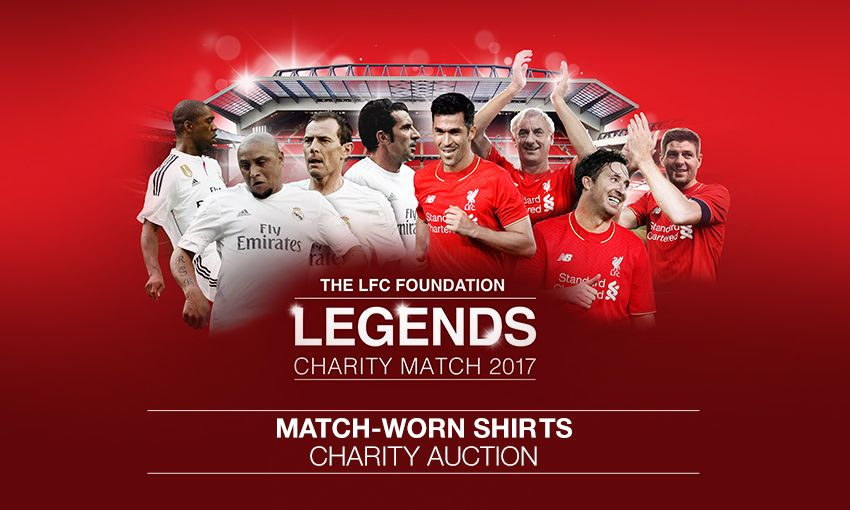 Legends Match Worn Shirt Charity Auction