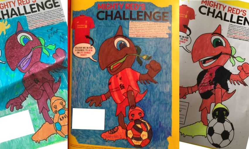 Mighty Red Colouring Competition – Winner Announced!