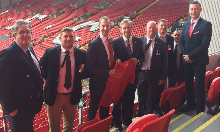 Acting US Ambassador meets military vets at Anfield
