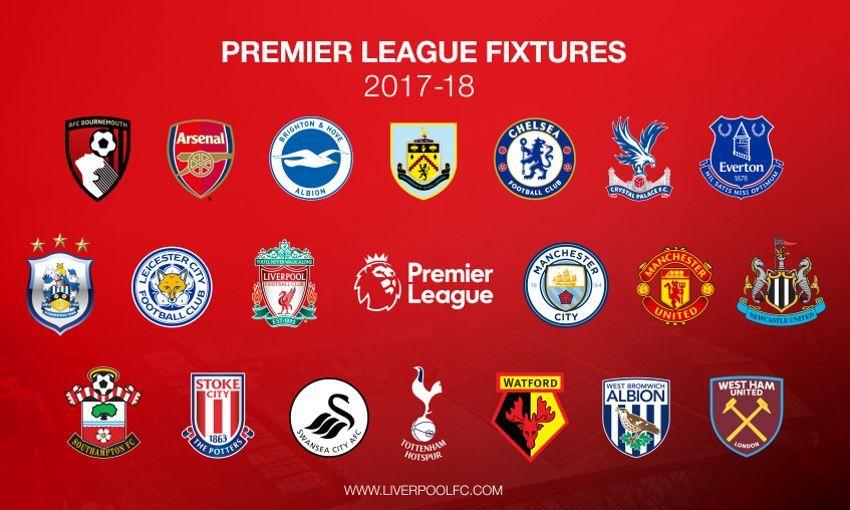 Resultado de imagen de Calendario Premier League 2017 18