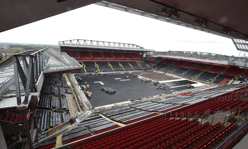 Photos And Facts Anfield Pitch Renovation Underway