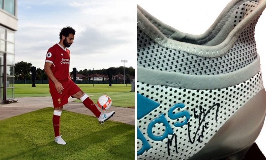 Fundraising auction: Your chance to own Mohamed Salah's boots!