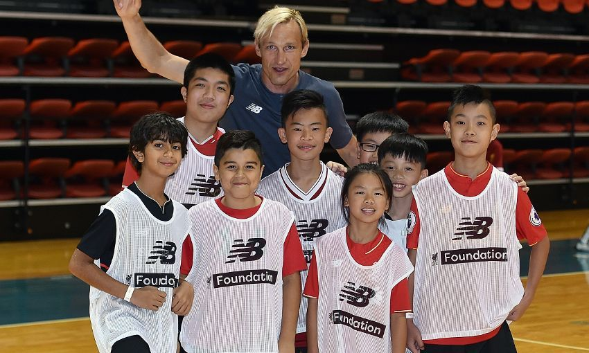 Hyypia and McAteer bring cheer to Hong Kong children
