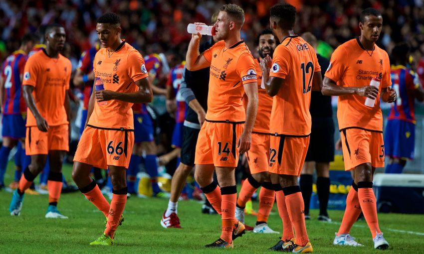 714dfd30a1a In pictures  LFC wear new third kit for first time - Liverpool FC