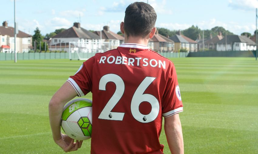 buy popular 99c30 a88c4 Andy Robertson's Liverpool shirt number revealed - Liverpool FC