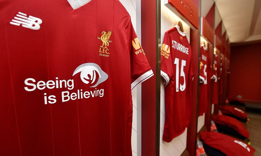 f9732ed3ae Photos  Reds show support for  Seeing is Believing  initiative in United  clash