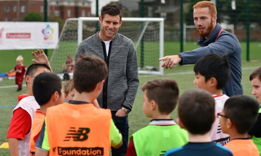 James Milner visits LFC Foundation Camp
