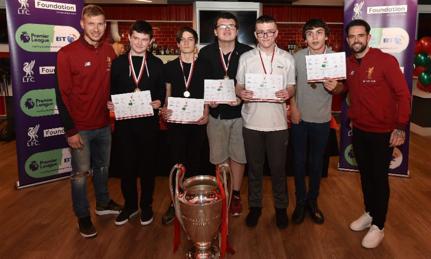Ragnar Klavan and Danny Ings attend Respect 4 All Christmas Presentation