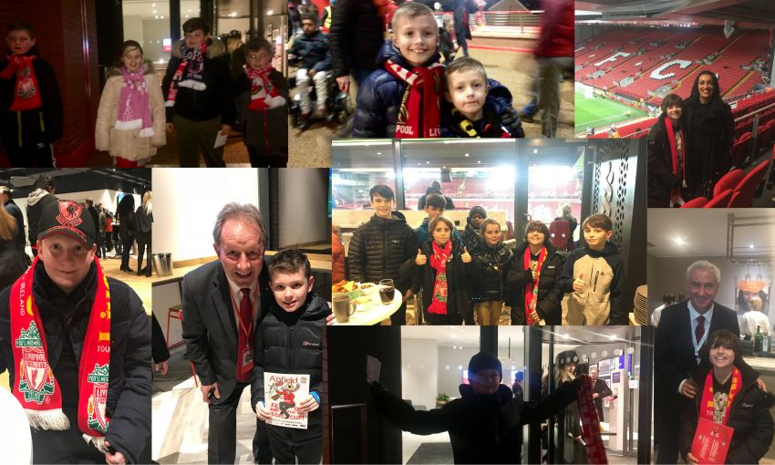 children attend lfc match v west brom with standard chartered