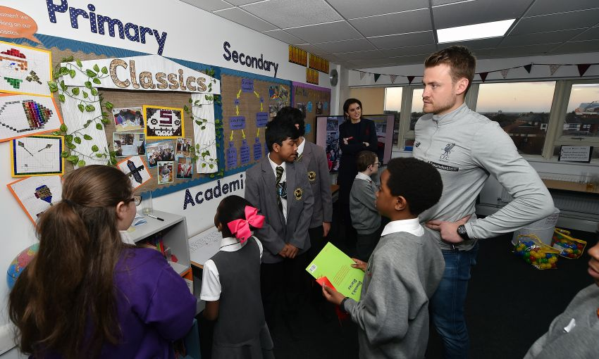 mignolet attends intolaunch with university and foundation
