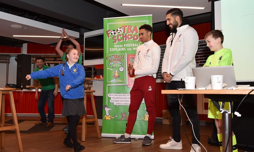 LFC Foundation present World Book Day with Trent Alexander Arnold and Emre Can
