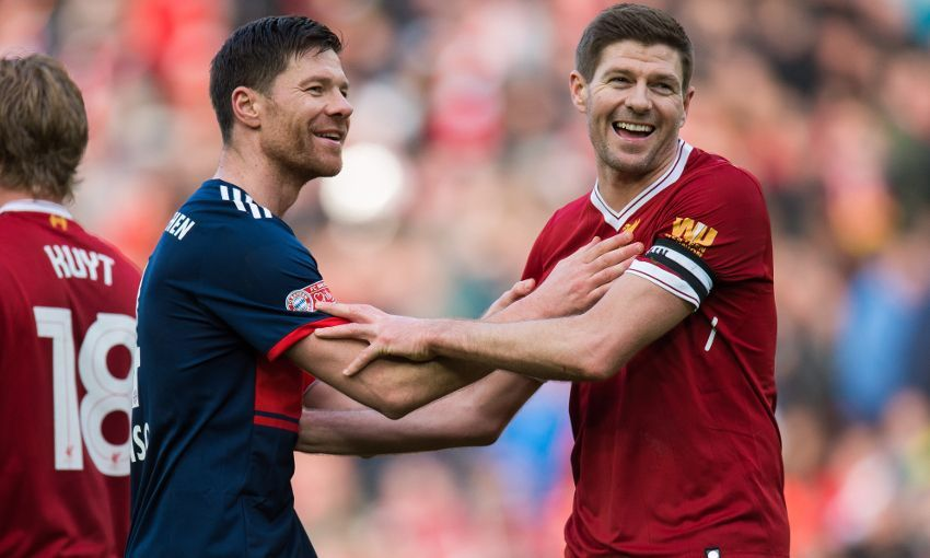 Report: Xabi Alonso nets in 10-goal thriller between LFC Legends and Bayern