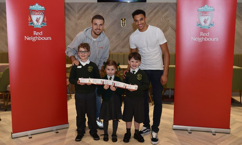 Hendo and Trent present local kids with free match tickets