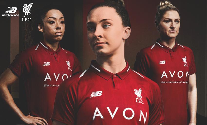 256eb5c31 Liverpool Ladies home kit. New Balance 2018-19 LFC training range