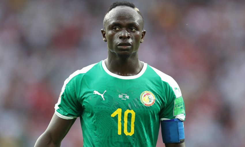 Sadio Mane lines up for Senegal at the World Cup finals.