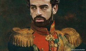 Mohamed Salah as part of Fabrizio Birimbelli's 'Like the Gods' project