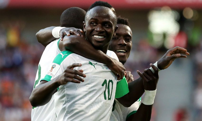 Sadio Mane scores for Senegal v Japan at World Cup