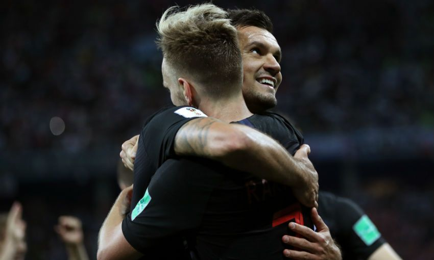 Dejan Lovren of Croatia and Liverpool at the World Cup