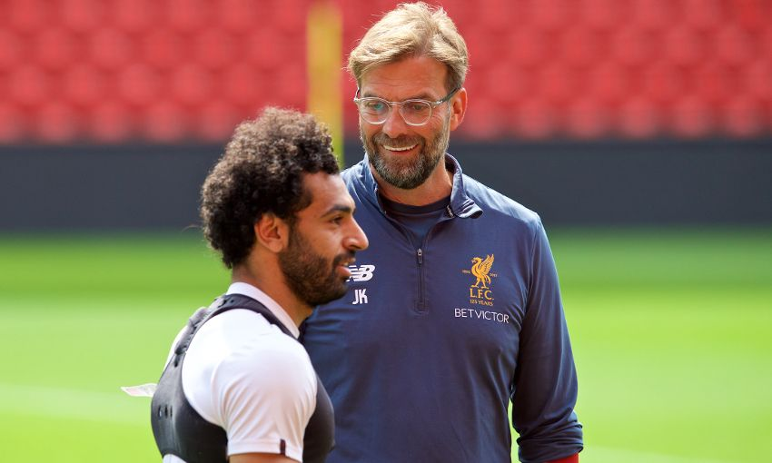 Mohamed Salah and Jürgen Klopp.
