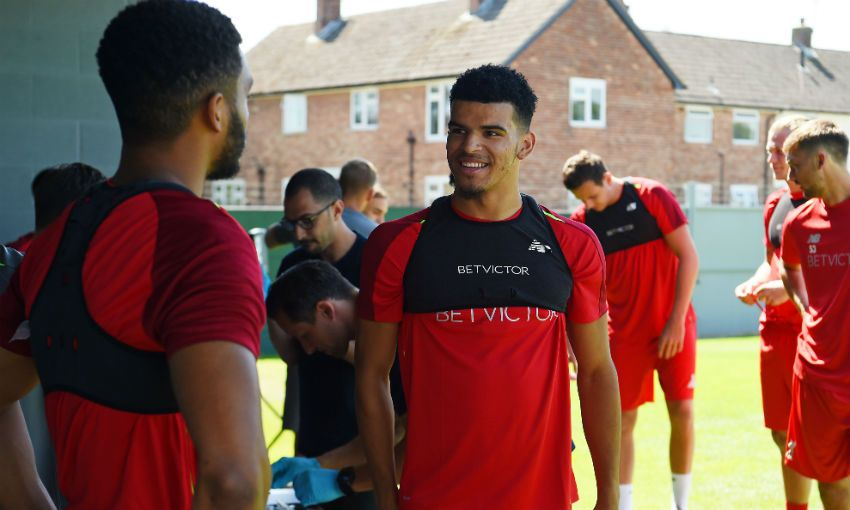 Liverpool FC striker Dominic Solanke at Melwood