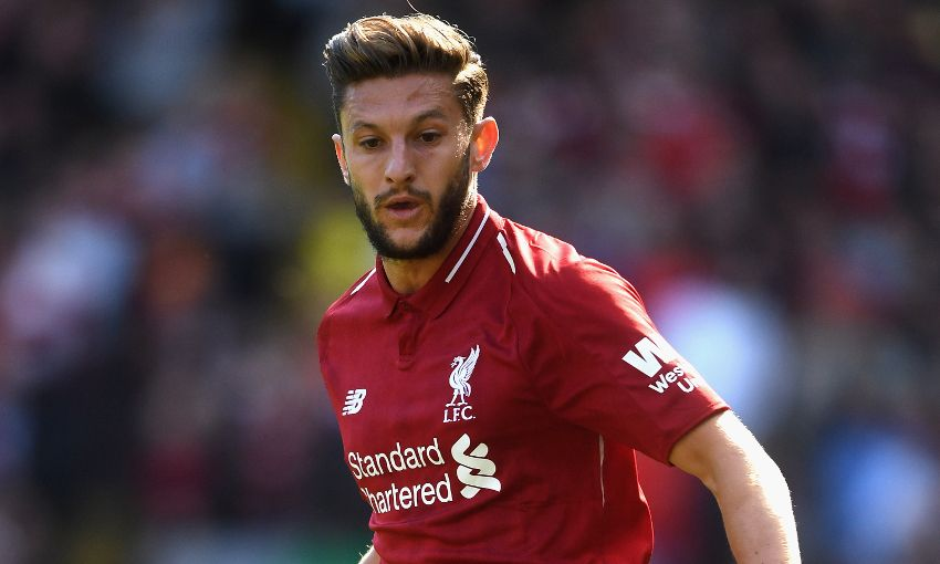 Liverpool's Adam Lallana plays at Anfield