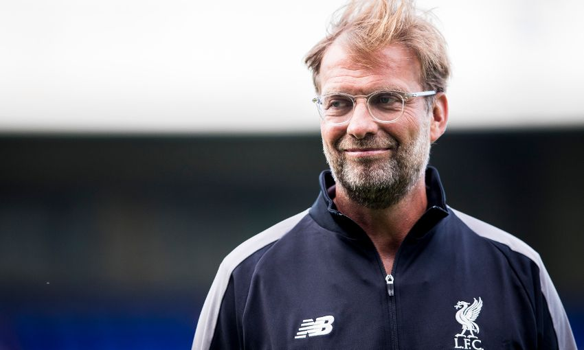 Jürgen Klopp during Liverpool's pre-season friendly at Tranmere.