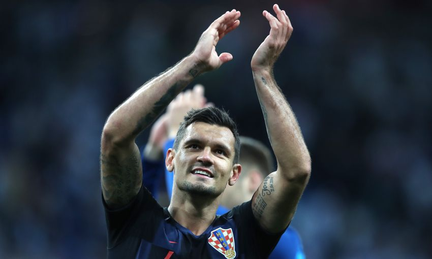 Dejan Lovren of Croatia